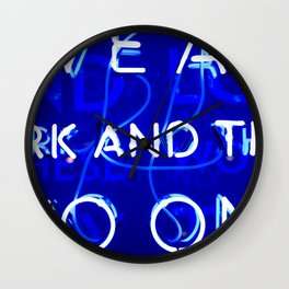 Blue Neon  Wall Clock