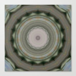 The Green Unsharp Mandala 9 (Camouflage Target) Canvas Print