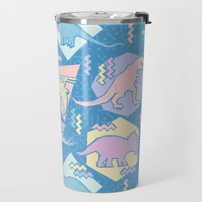 Nineties Dinosaurs Pattern  - Pastel version Travel Mug
