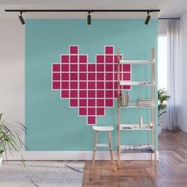 Pixelated Heart Wall Mural