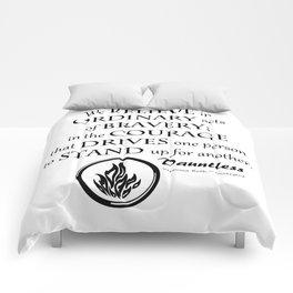 Dauntless Black Lettering Comforters