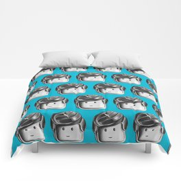 Minifigure Pattern – Blue Comforters