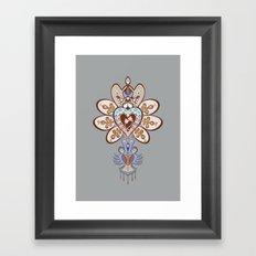 Flowering Heart Framed Art Print