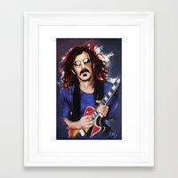 zappa Framed Art Prints featuring Frank Zappa by Melanie D