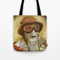 fear and loathing Tote Bags featuring Fear and Loathing by Ant Errickson