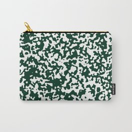 Small Spots - White and Deep Green Carry-All Pouch