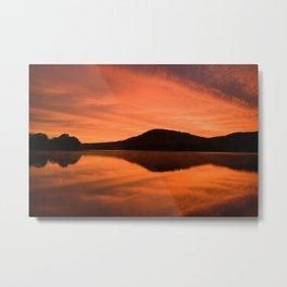 Dawn on Fire: Lac du Saint Sacrement Metal Print