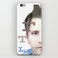 mike wrobel iPhone & iPod Skins featuring Mike by Justin Yanke