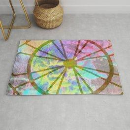 Geometric Sun Circle Rug