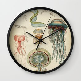 Jellyfishes from the Deep Sea Wall Clock