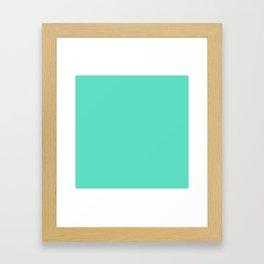 Aqua Blue Solid Color Framed Art Print