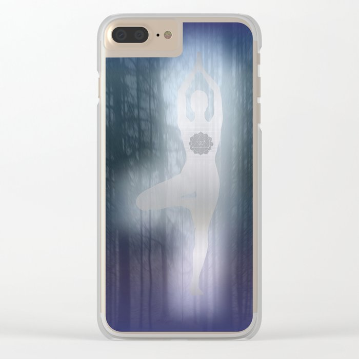 Forest Yoga Clear iPhone Case