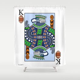 King of Pigskins Shower Curtain