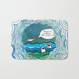 home is where the ocean is Bath Mat