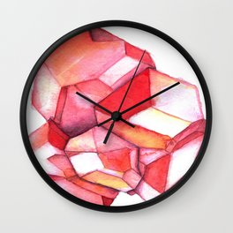 January Birthstone - Garnet Wall Clock