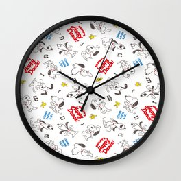 Snoopy happy dance Wall Clock