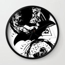 Bats ink splash Wall Clock
