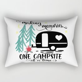 Making Memories One Campsite at a Time Rectangular Pillow