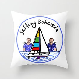 Beard Boy: Sailing Bohemia Throw Pillow