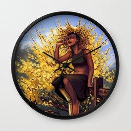 Forsythia Witch II Wall Clock