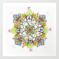 Energy burst Mandala Art Print
