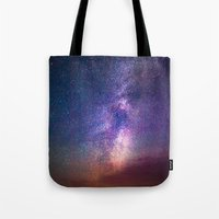 milky way Tote Bags featuring Milky Way by Lotus Effects