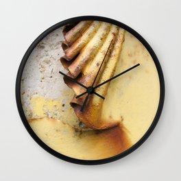 Yellow Push Wall Clock