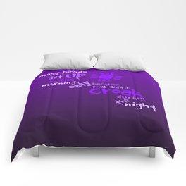 Croak-Purple Comforters