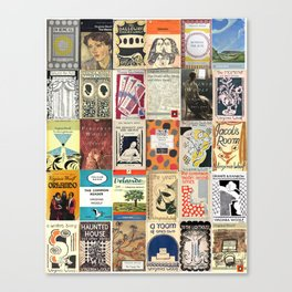 Virginia Woolf Book Covers Canvas Print