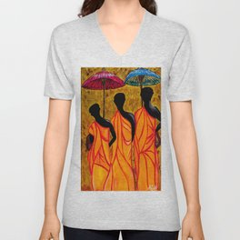 The Walking Monks-the Path To Devotion Unisex V-Neck