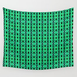 Drops and chains green-blue Wall Tapestry