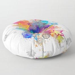 Color blobs by Nico Bielow Floor Pillow