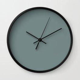 Pensive Daisy Medium Blue-Green Wall Clock