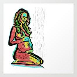 GirlPregnant Art Print
