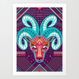 Symmetric Animals. RAM Art Print