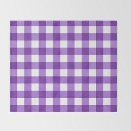 Purple Buffalo Check - more colors Throw Blanket