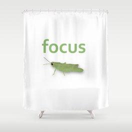 Focus Grasshopper Shower Curtain