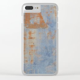 Textured Vintage Sign Clear iPhone Case