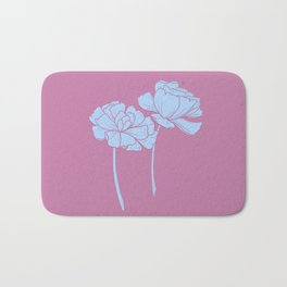 The Flower Couple in Perwinkle Bath Mat