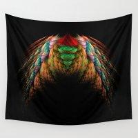 angel wings Wall Tapestries featuring Wings  by jbjart