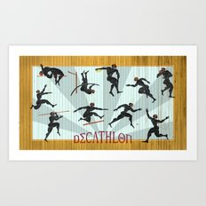 Decathlon Horizontal Poster Art Print