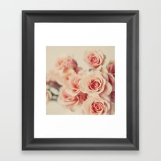 Pale bouquet Framed Art Print