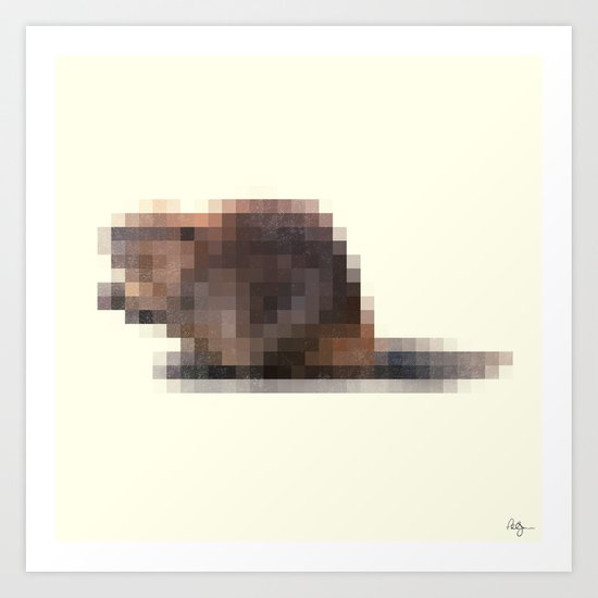 Censored Semi-Aquatic Rodent Art Print