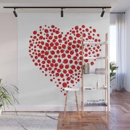 Ladybug heart Wall Mural