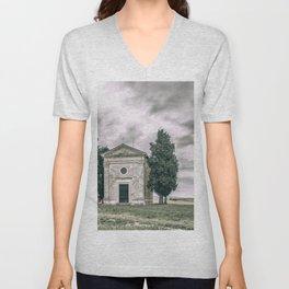 Cappella della Madonna di Vitaleta Unisex V-Neck
