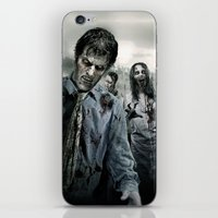 the walking dead iPhone & iPod Skins featuring Zombie by Joe Roberts