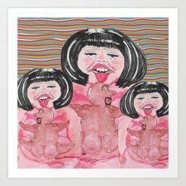 Lick The Lumps Art Print