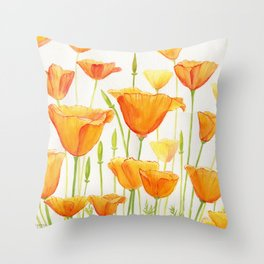 Blossom Poppies Throw Pillow