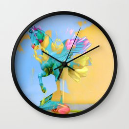 The Fly of Angelic Flowers - Digital Mixed Fine Art Wall Clock
