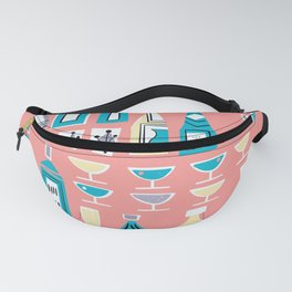 Cocktails And Drinks In Aquas and Pinks Fanny Pack